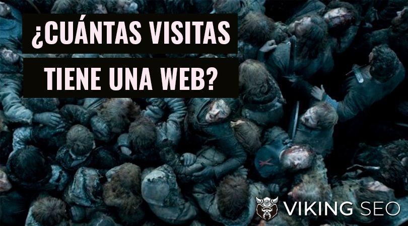 como saber cuantas visitas tiene una web